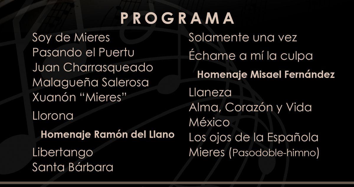 Web Programa Concierto Santa Cecilia 2019