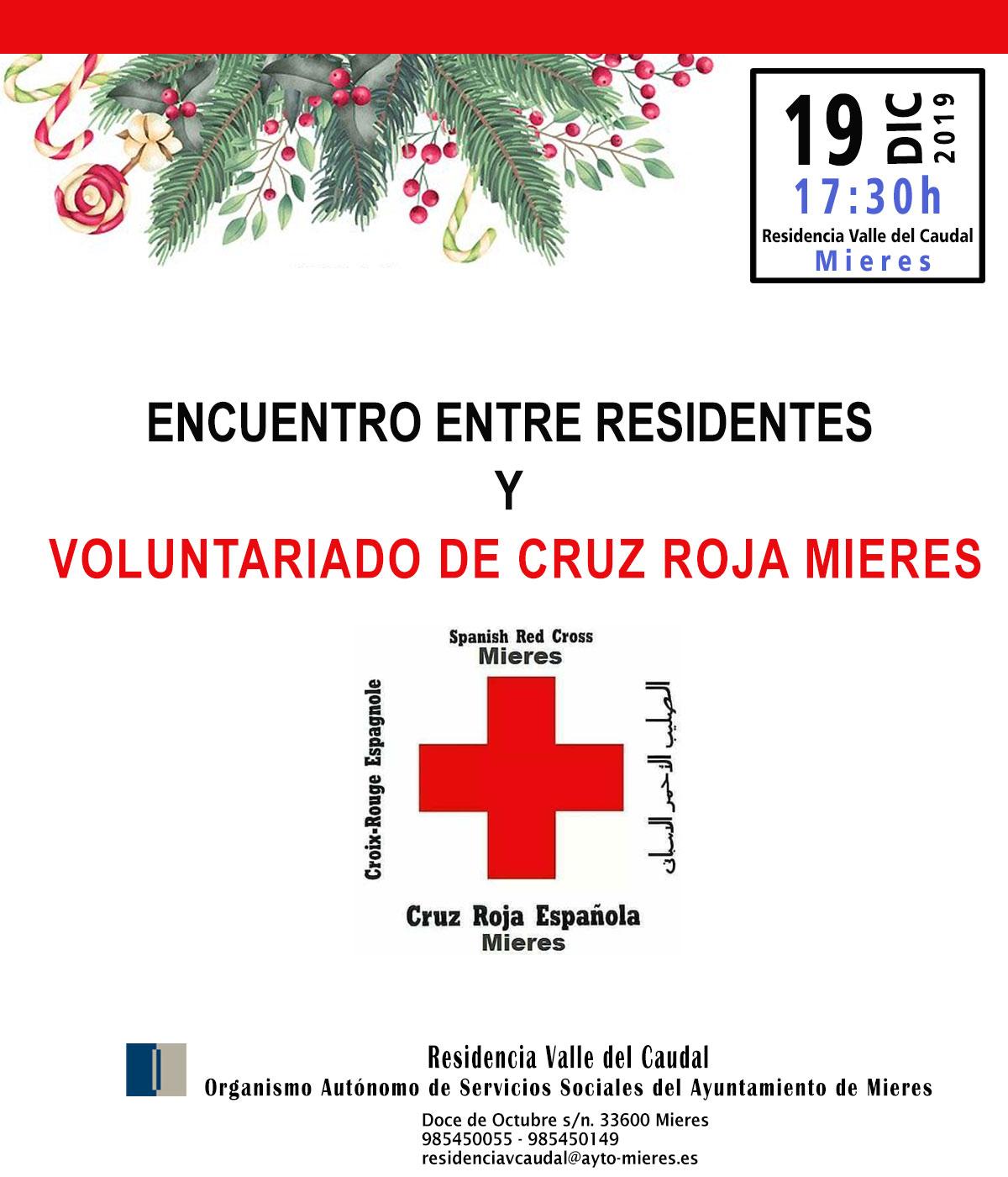 024 Cartel Encuentro De Residentes Y Voluntariado De Cruz Roja Mieres Para Web