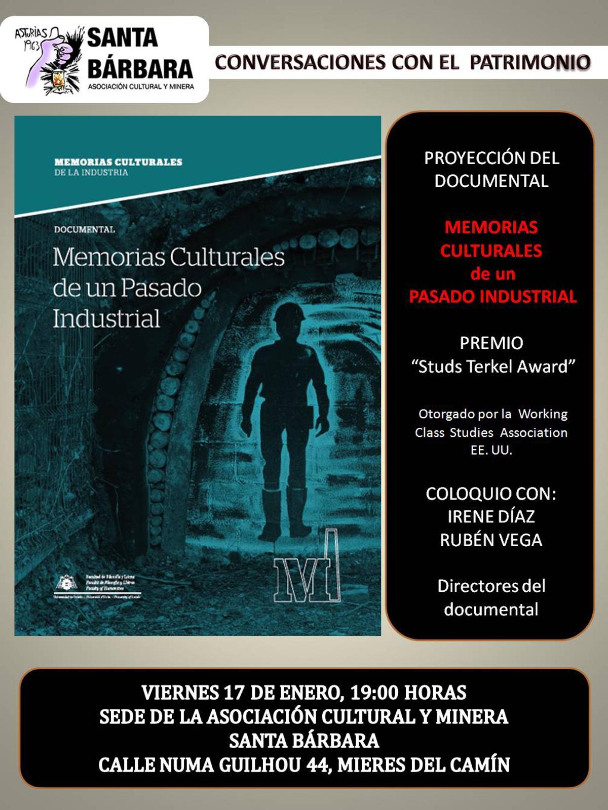 CARTEL Web PATRIMONIO Documental Memorias Culturales De Un Pasado Industrial