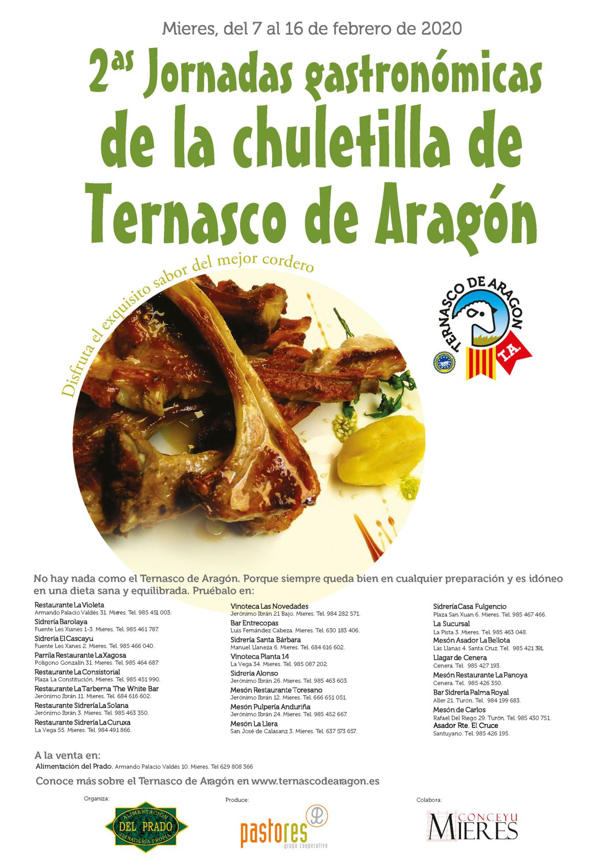 Cartel Mieres Chuletillas Ternasco 2020