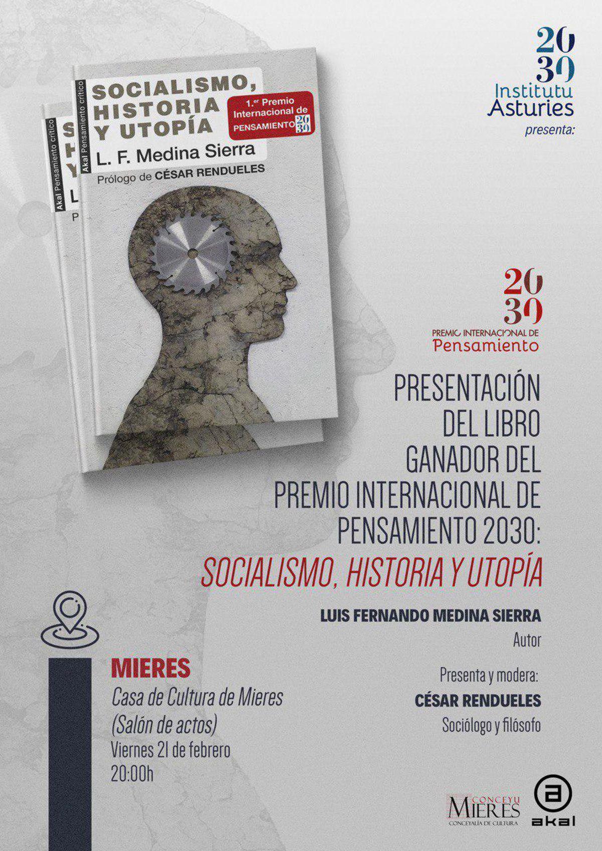 Cartel Presentacion Socialismo Utopia