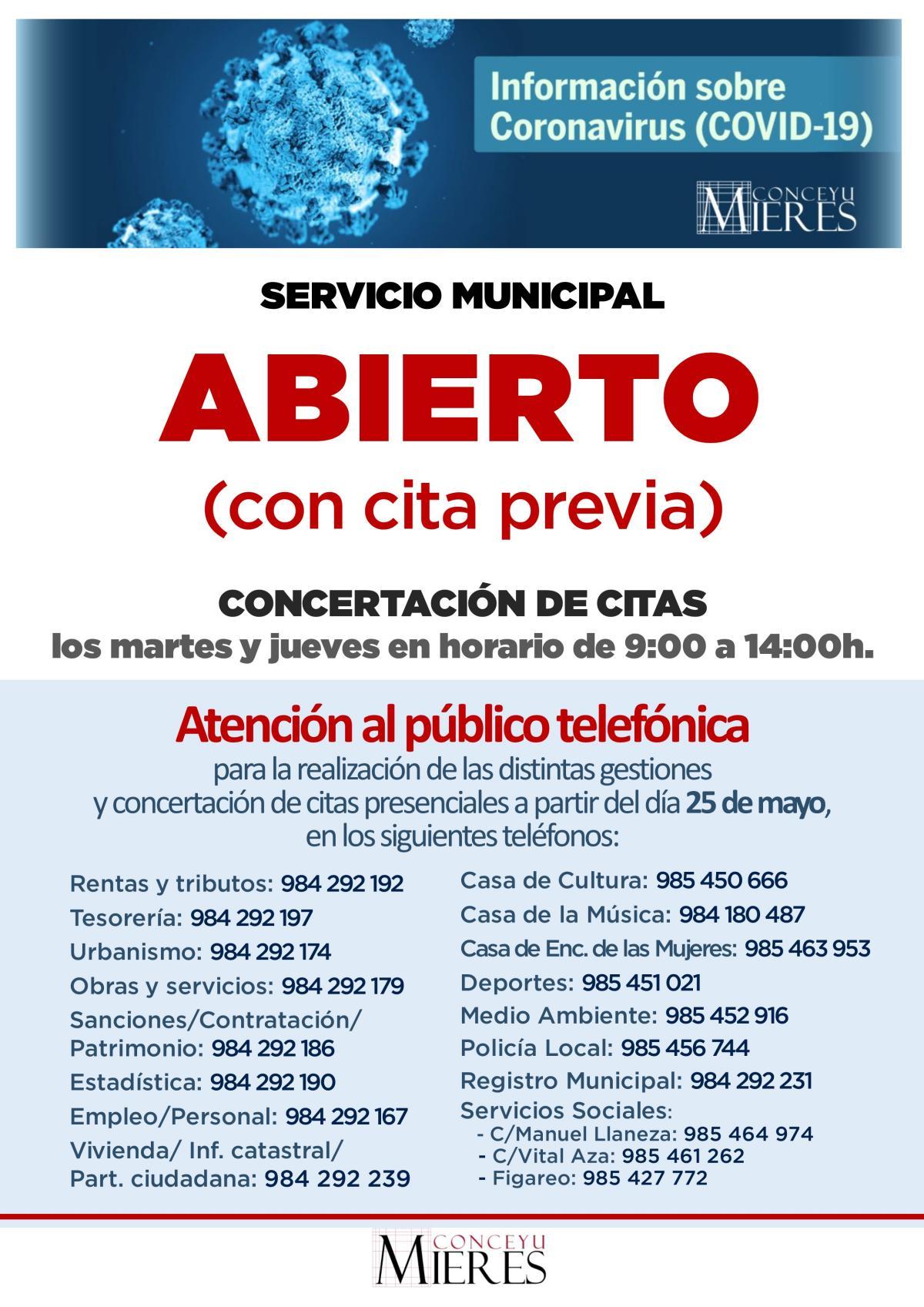 Cartel Apertura Coronavirus Web