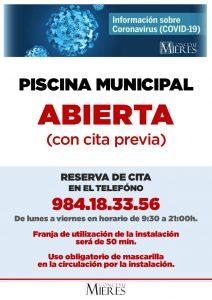 Cartel Apertura Piscina Web