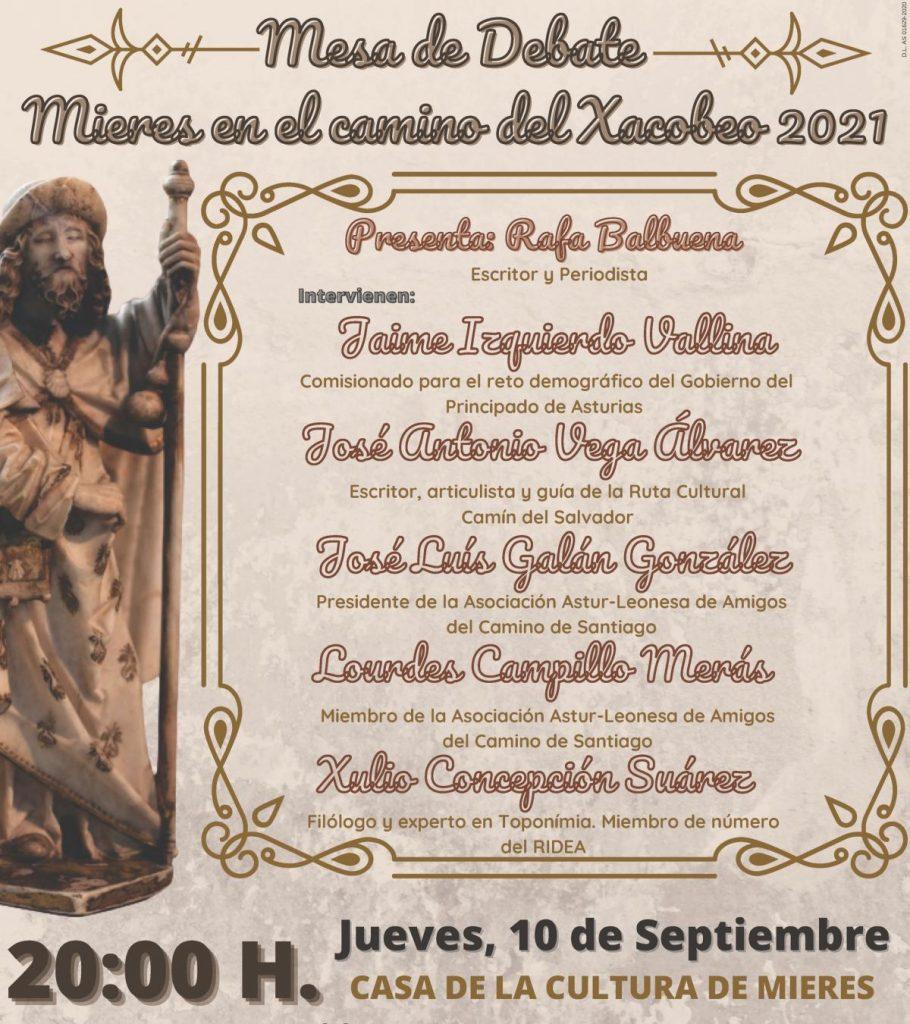 Cartel Debate Mieres En El Camino Del Xacobeo 2020 Web