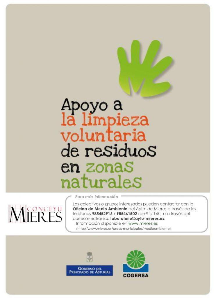 Cartel Campaña Apoyo Limpieza Residuos En Zonas Naturales