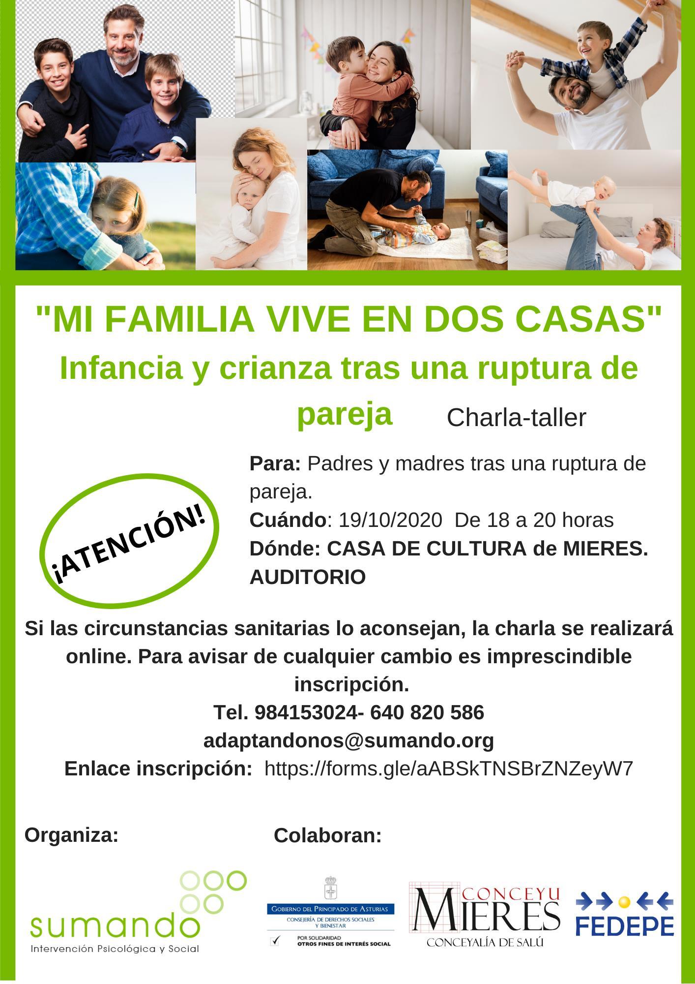 Charla Mi Familia Vive En Dos Casas