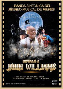 Cartel John Williams Banda Musica Atener Musical Mieres
