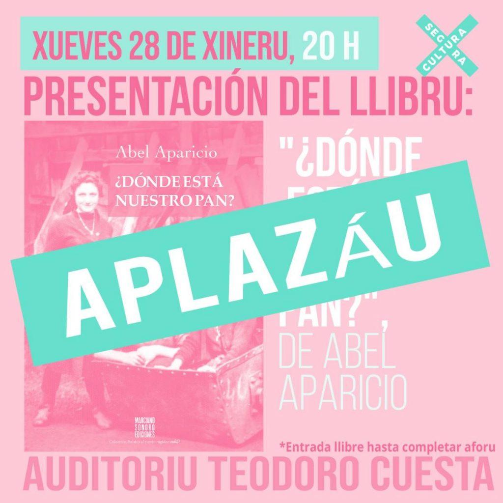 Cartel Aplazado Evento Libro Aparicio Fotor