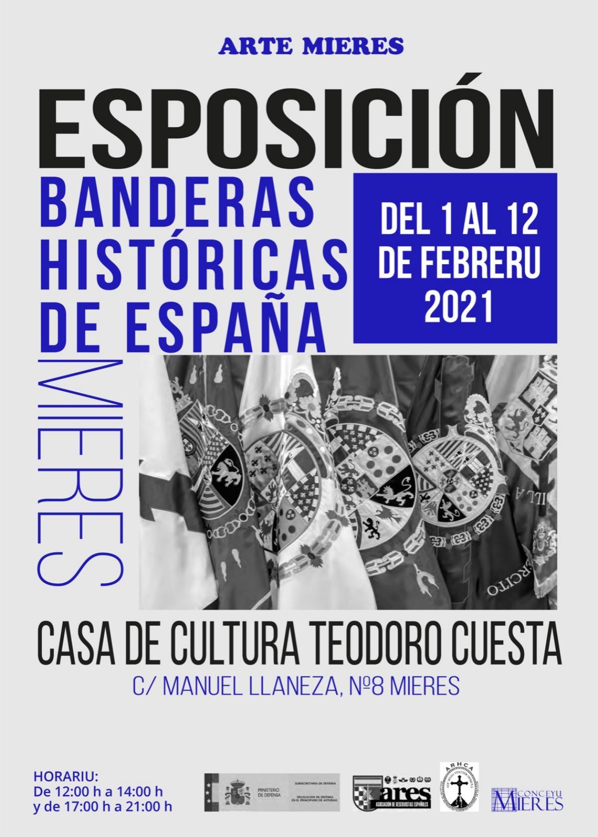 Cartel Exposicion Banderas España Mieres