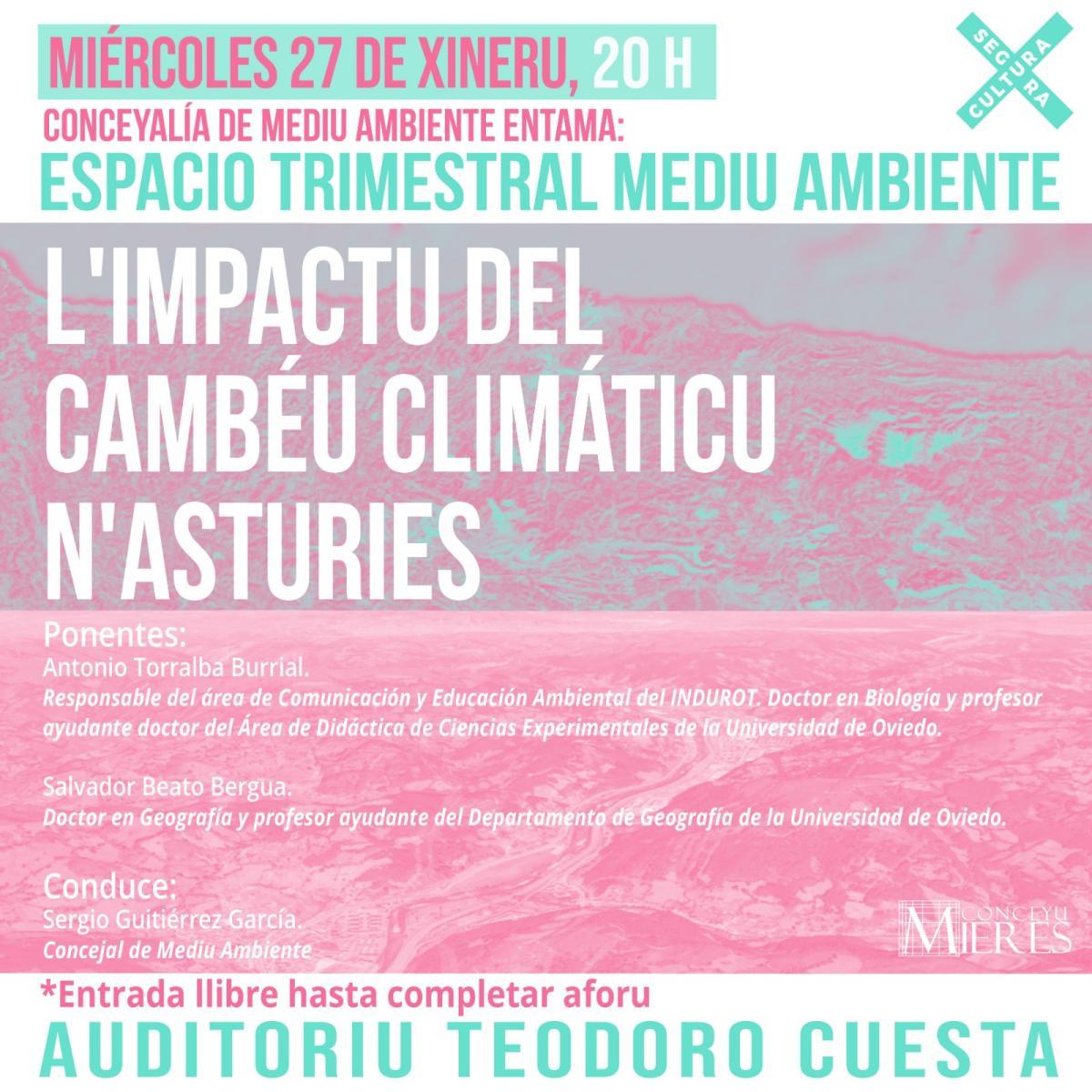 Impacto Cambio Ambiental Asturias Cartel
