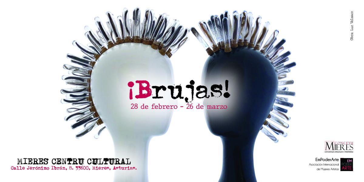 Tarjetón Cartel Exposición Brujas Mieres 8M2021