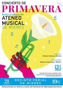 Cartel Concierto Primavera Ateneu Musical 2021