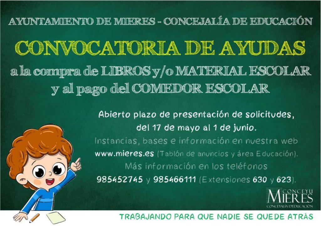 Cartel Ayudas Comedor Escolar Y Compra Libros OK Web