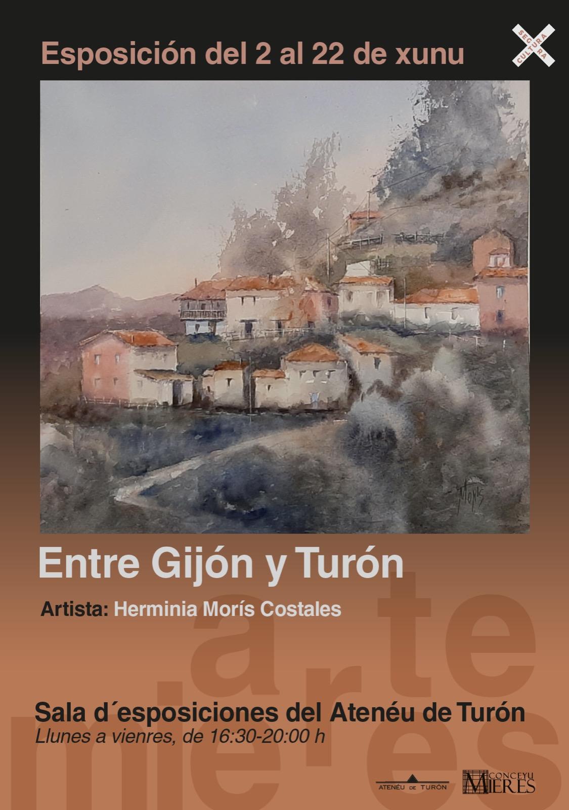Cartel Expo Entre Gijon Y Turon