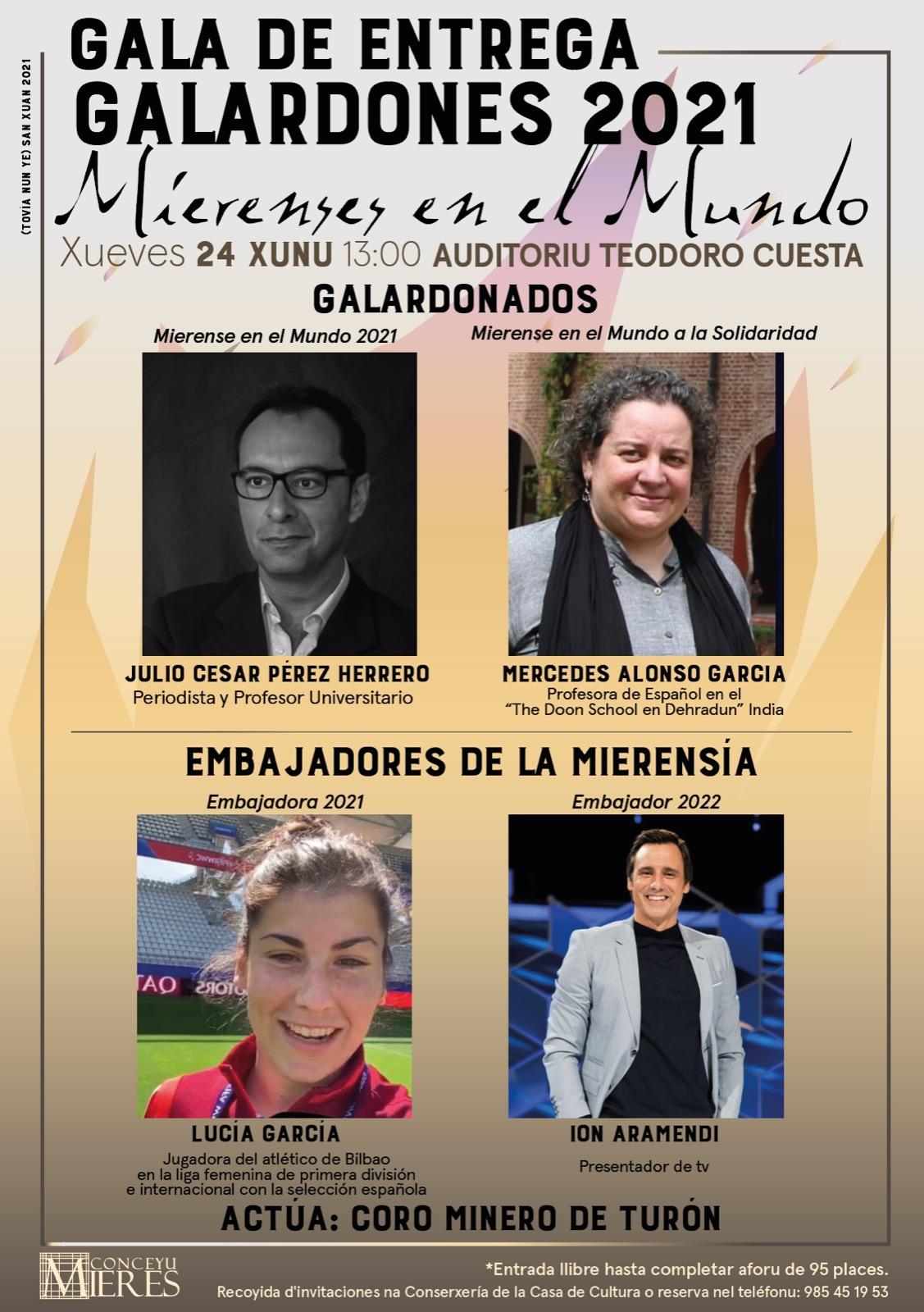 Cartel Gala Entrega Galardones Mierenses Mundo