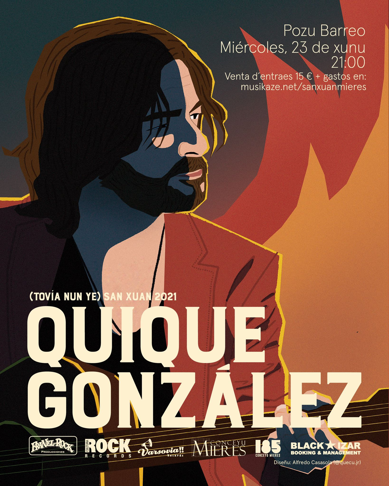 Cartel Quique Gonzalez Concierto San Xuan2021