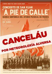 Eventos Cancelado A PIE DE CALLE BANDA ATENEU