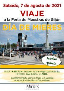 Cartel Viaje Feria Muestras Gijon Agosto 2021