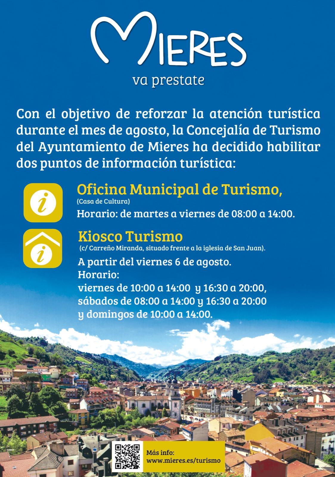 Mieres Va Prestate Horarios Oficina Turismo Agosto 2021