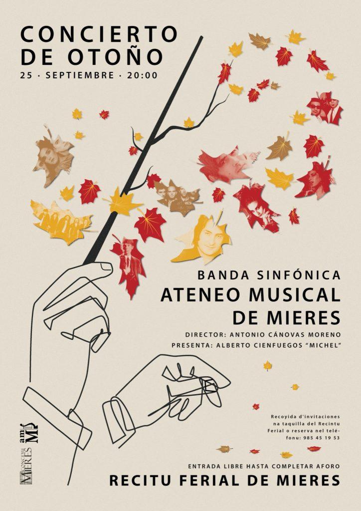 Cartel Concierto Otoño Banda Ateneo Musical Mieres