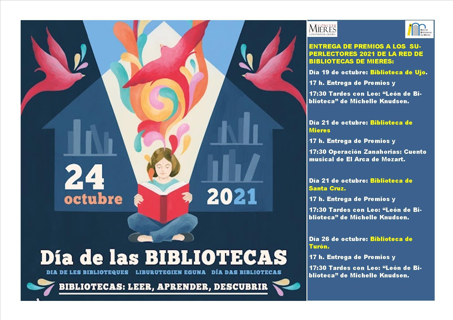 Cartel Actividades Día De Las Bibliotecas