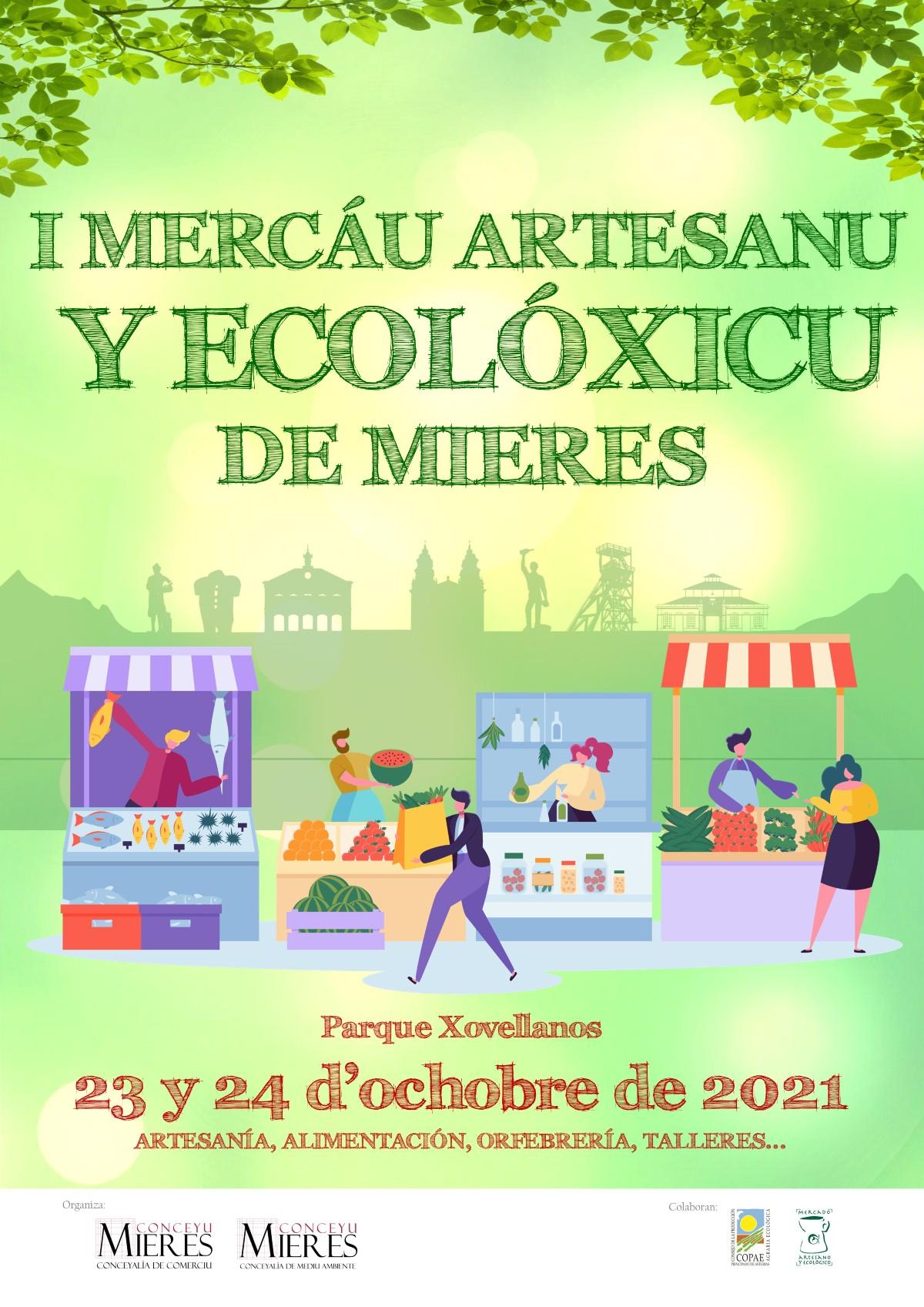 Cartel Web Mercáu Ecolóxicu 2021 Mieres